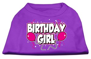 Birthday Girl Screen Print Shirts Purple XL
