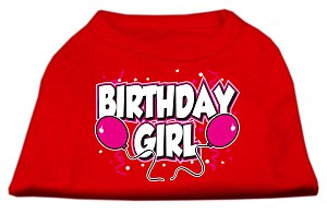 Birthday Girl Screen Print Shirts Red XXXL