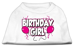 Birthday Girl Screen Print Shirts White XXL