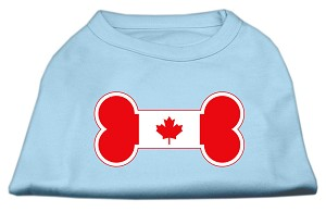 Bone Shaped Canadian Flag Screen Print Shirts Baby Blue S (10)