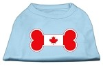 Bone Shaped Canadian Flag Screen Print Shirts Baby Blue S