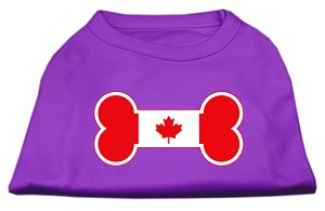 Bone Shaped Canadian Flag Screen Print Shirts Purple XL (16)