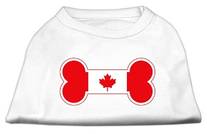 Bone Shaped Canadian Flag Screen Print Shirts White XXXL(20)