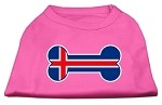 Bone Shaped Iceland Flag Screen Print Shirts Bright Pink S