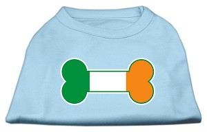 Bone Flag Ireland Screen Print Shirt Baby Blue Lg (14)