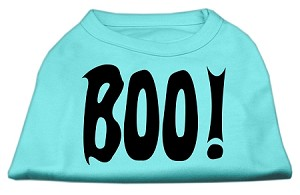 BOO! Screen Print Shirts Aqua Lg (14)