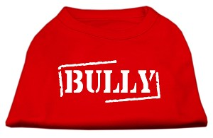 Bully Screen Printed Shirt Red XS (8)