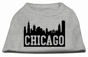 Chicago Skyline Screen Print Shirt Grey Med (12)