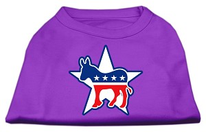 Democrat Screen Print Shirts Purple L