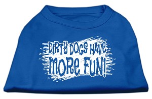 Dirty Dogs Screen Print Shirt Blue Med (12)