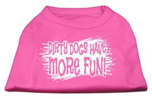 Dirty Dogs Screen Print Shirt Bright Pink XXXL (20)