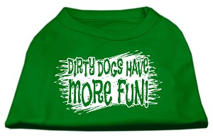 Dirty Dogs Screen Print Shirt Emerald Green XS (8)