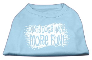 Dirty Dogs Screen Print Shirt Baby Blue Lg (14)
