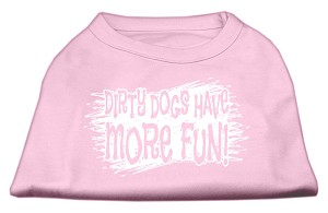 Dirty Dogs Screen Print Shirt Light Pink Med (12)