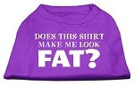 Does This Shirt Make Me Look Fat? Screen Printed Shirt Purple XS