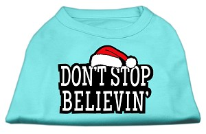 Don't Stop Believin' Screenprint Shirts Aqua XS (8)