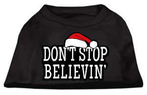 Don't Stop Believin' Screenprint Shirts Black M (12)