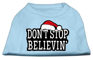 Don't Stop Believin' Screenprint Shirts Baby Blue M (12)