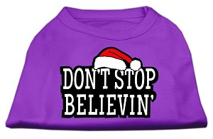 Don't Stop Believin' Screenprint Shirts Purple XXL (18)