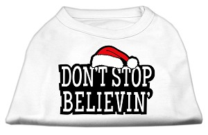Don't Stop Believin' Screenprint Shirts White M