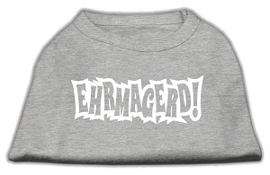 Ehrmagerd Screen Print Shirt Grey Med (12)
