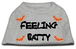 Feeling Batty Screen Print Shirts Grey Lg