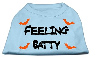 Feeling Batty Screen Print Shirts Baby Blue XL (16)