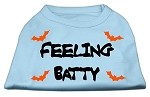 Feeling Batty Screen Print Shirts Baby Blue XXL