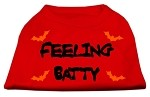 Feeling Batty Screen Print Shirts Red Med