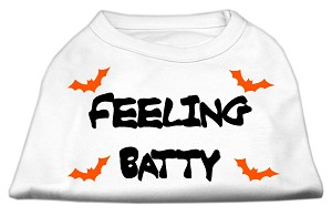 Feeling Batty Screen Print Shirts White XXXL (20)