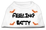 Feeling Batty Screen Print Shirts White XL