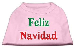 Feliz Navidad Screen Print Shirts Light Pink XL (16)