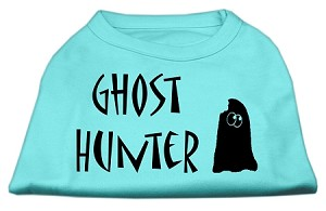 Ghost Hunter Screen Print Shirt Aqua with Black Lettering Sm