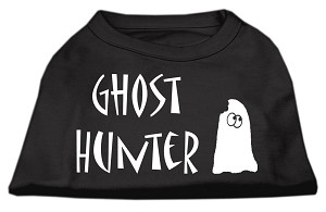 Ghost Hunter Screen Print Shirt Black with White Lettering XL (16)