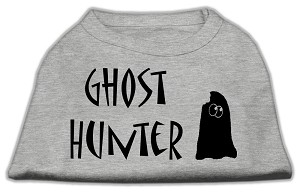 Ghost Hunter Screen Print Shirt Grey with Black Lettering Med