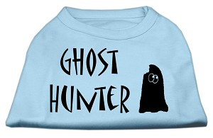 Ghost Hunter Screen Print Shirt Baby Blue with Black Lettering Sm (10)