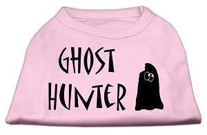 Ghost Hunter Screen Print Shirt Light Pink with Black Lettering XXL (18)