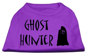 Ghost Hunter Screen Print Shirt Purple with Black Lettering Sm