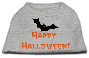Happy Halloween Screen Print Shirts Grey S