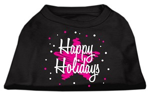 Scribble Happy Holidays Screenprint Shirts Black XXXL (20)