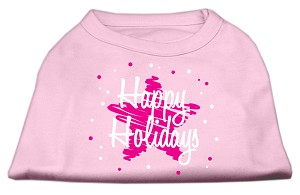 Scribble Happy Holidays Screenprint Shirts Light Pink XS (8)