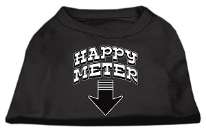 Happy Meter Screen Printed Dog Shirt Black Med