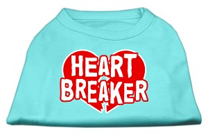 Heart Breaker Screen Print Shirt Aqua XXL (18)