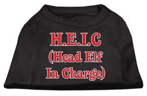 Head Elf In Charge Screen Print Shirt Black XXL (18)