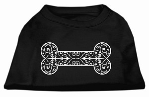 Henna Bone Screen Print Shirt Black XS (8)