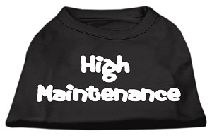 High Maintenance Screen Print Shirts Black XXXL(20)