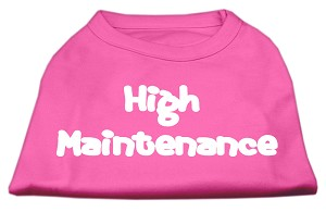 High Maintenance Screen Print Shirts Bright Pink L (14)