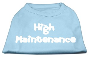 High Maintenance Screen Print Shirts Baby Blue XXXL(20)
