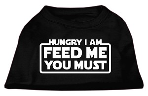 Hungry I am Screen Print Shirt Black XXXL (20)