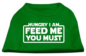 Hungry I Am Screen Print Shirt Emerald Green XXL (18)